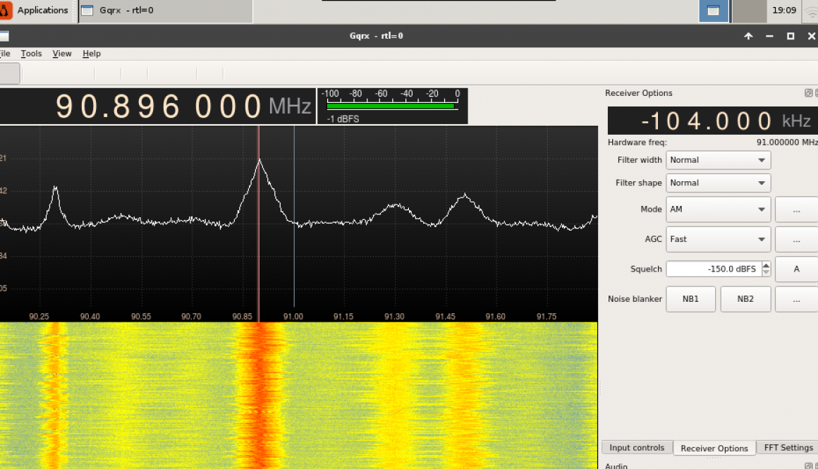 Interface of gqrx