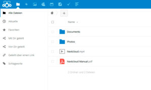 Web interface Nextcloud on Pi