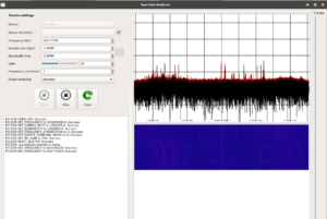 Frequencies in the URH interface